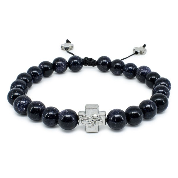 Black GoldStone Prayer Bracelet-0