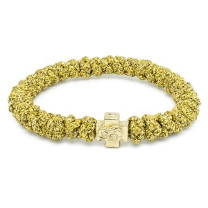 Peppiges Goldene orthodox Knoten Armband