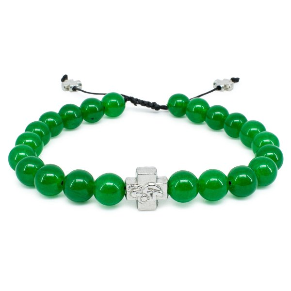 Green Jadeite Stone Prayer Bracelet-0