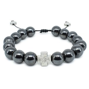 Large Hematite Stone Prayer Bracelet-0