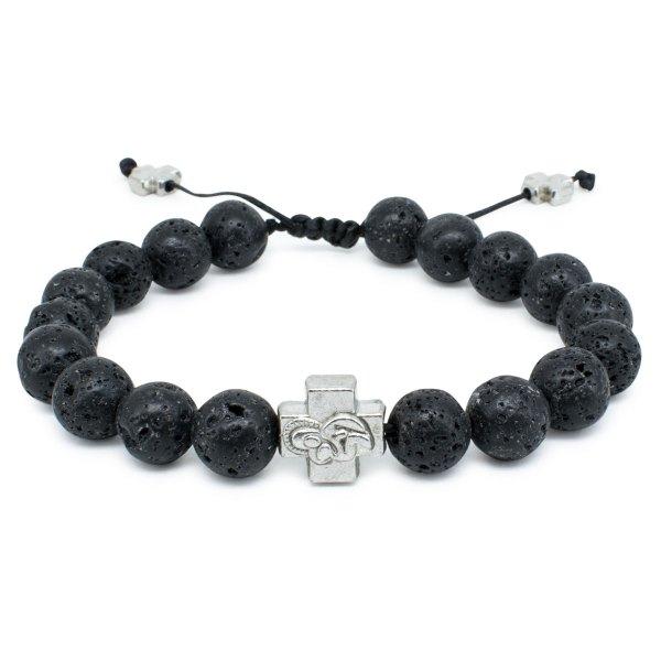 Lava Stone Prayer Bracelet-0