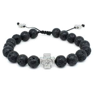 Lava Stone Prayer Bracelet-0