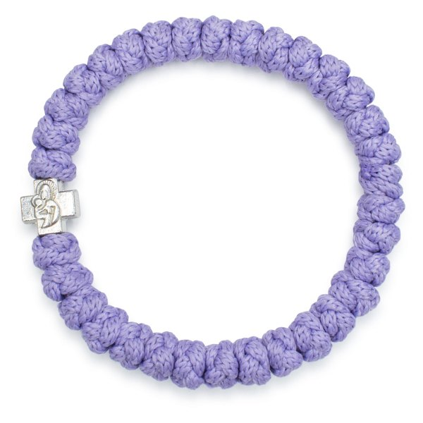 Lebendiges Lila orthodox Knoten Armband