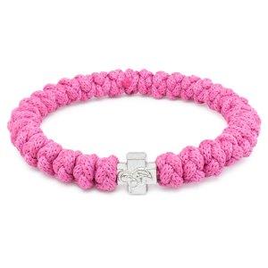 Modisches Pink orthodox Knoten Armband