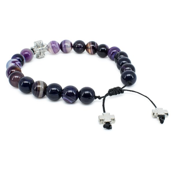 Marvellous Purple Agate Stone Prayer Bracelet
