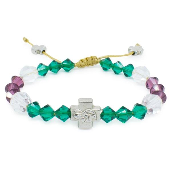 "Swarovski Crystal Prayer Bracelet ""Anna""-0"