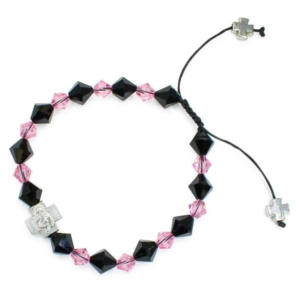 """Schönes orthodox Armband mit Swarovski Element Kristallen """"Black Velvet"""""""