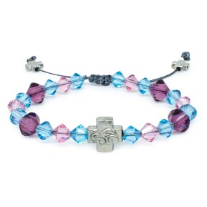 """Swarovski Crystal Prayer Bracelet """"Emily""""-0"""