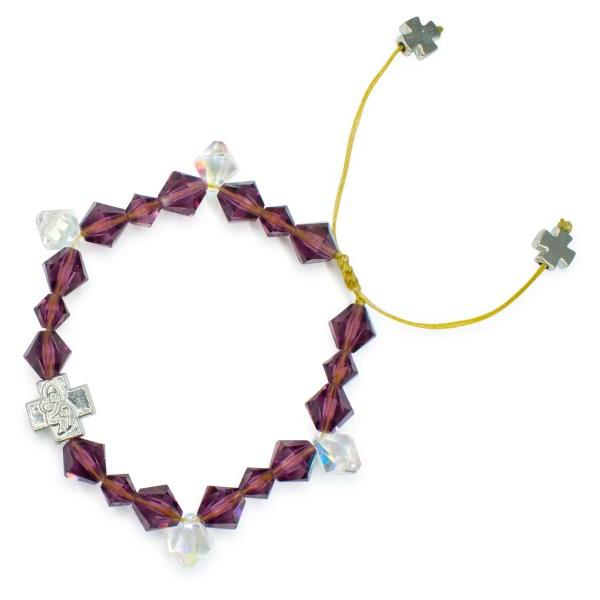 """Wunderliches orthodox Armband mit Swarovski Element Kristallen """"Purple Rain"""""""