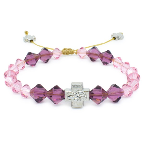 "Swarovski Crystal Prayer Bracelet ""Violet""-0"
