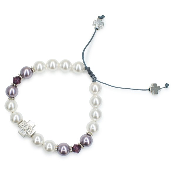 "Schickes Swarovski Kristal und Perlen orthodox Armband ""Elena"
