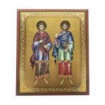 Markante Heilige Cosmas und Damian orthodoxe Ikone