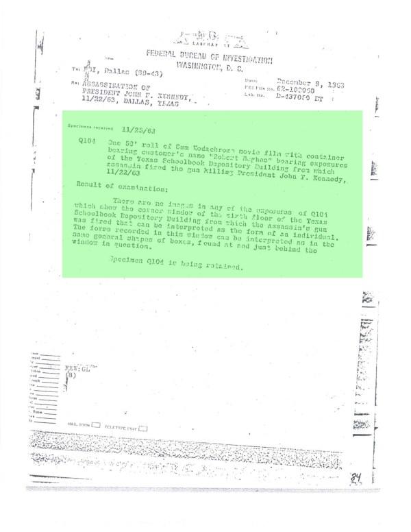 Memo Dec 9th 1963-2