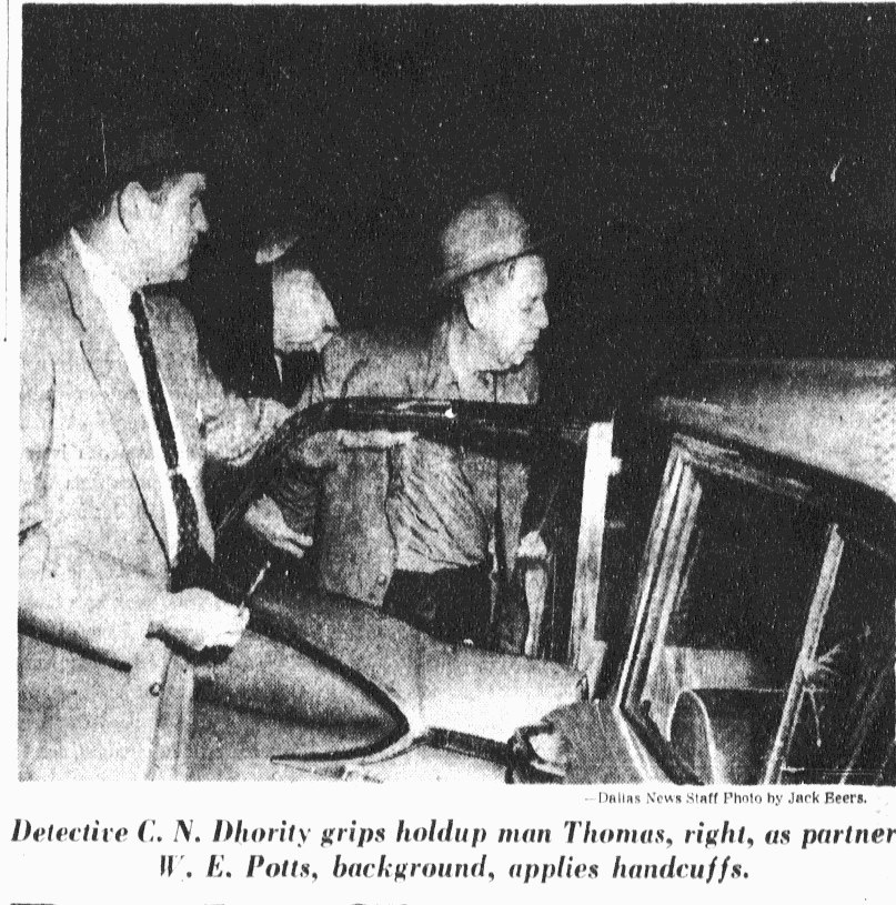 Charles N. Dhority and Walter E. Potts (Homicide). DMN December 10, 1961. Thanks to Steve Roe