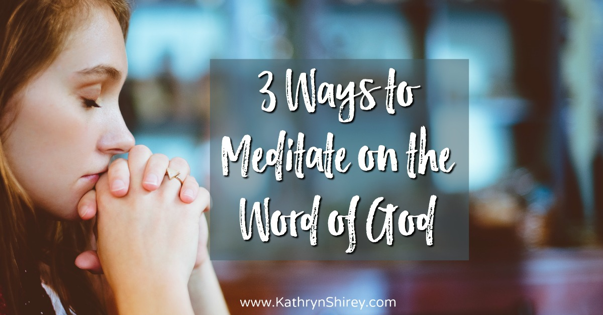Do you want to meditate on the Word of God, but don't know how to get started? Try these 3 ways of soaking deeply in God's word and meditate on scripture.