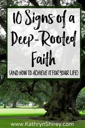 How deep is your faith? How strong are your roots? Deep-rooted faith will sustain you through droughts, steady you through trials, and nourish you to thrive.