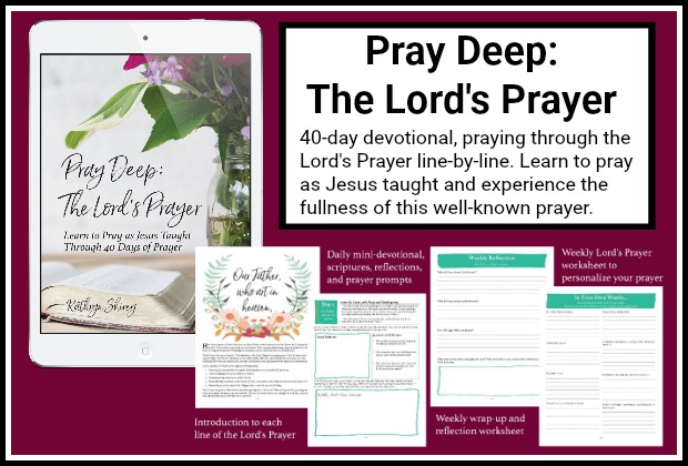 Pray Deep: The Lord's Prayer - a 40-day devotional praying the Lord's Prayer line-by-line. Learn how Jesus teaches us to pray in this deep-dive into the most familiar prayer. Experience the fullness of the Lord's Prayer and learn how to truly pray. Get your copy today!