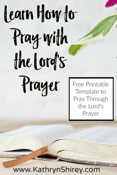 Learn how to pray as Jesus taught. Use this free printable Lord's Prayer template to write your own prayers using the outline Jesus gave in the Lord's Prayer. Make this prayer personal and truly learn how to pray. #prayer #howtopray #LordsPrayer