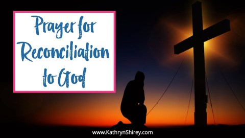A prayer for reconciliation to God. Be made new in Christ with this daily prayer to reconcile yourself to him. Pray to follow where Jesus leads.