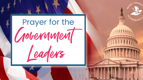 A daily prayer for the government leaders. Pray for the nation's leaders to lead through humility and wisdom, following God's guidance, leading the nation to peace and unity.