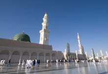 The Prophet's Mosque in Madinah.