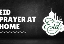 Eid Prayer at Home During the Lockdown