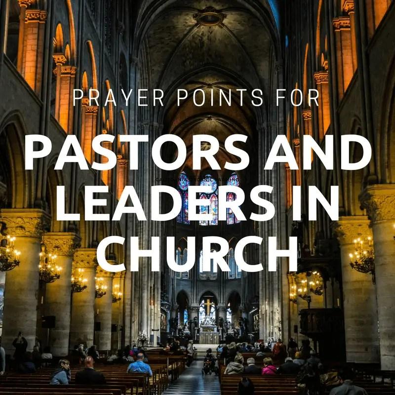 prayer points for pastors and church leaders rh prayerrelay com