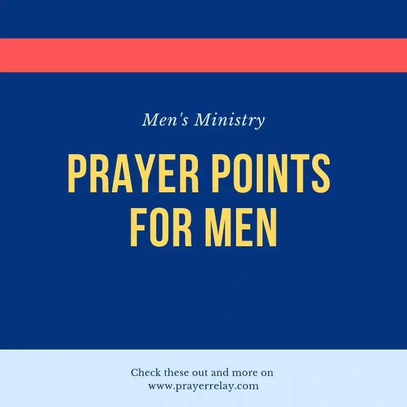 Men's Ministry prayer points