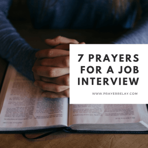 7 Prayers For A Job Interview