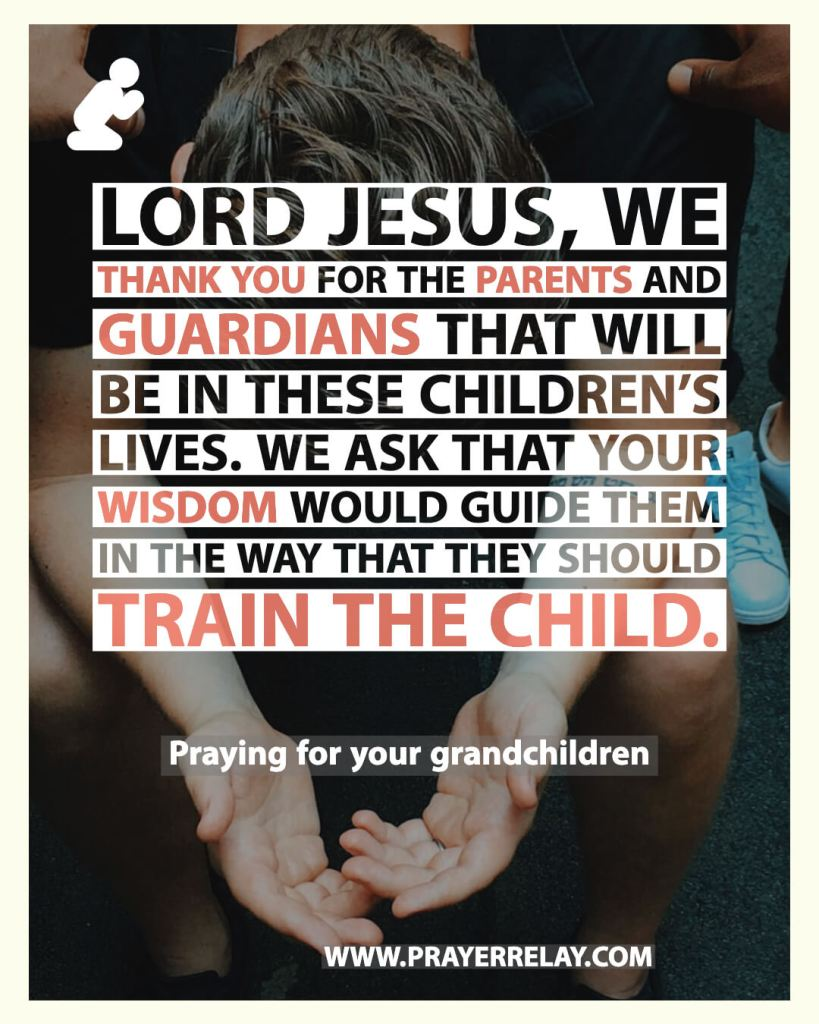 train a child prayer