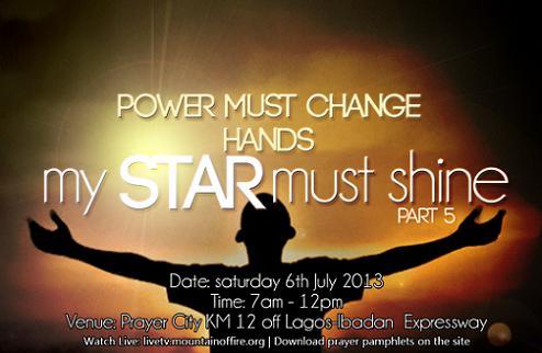 July 2013 power Must Change Hands - My Star Must Shine