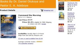 COMMAND THE MORNING Amazon Book by D.K.Olukoya