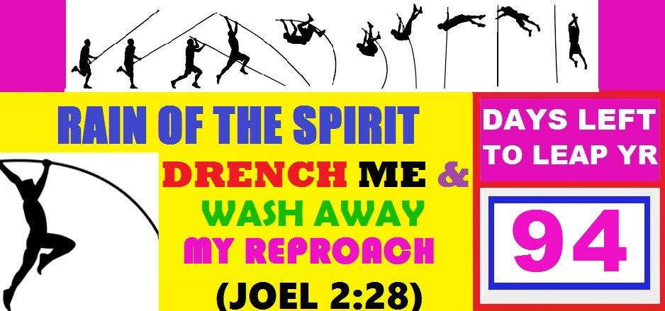 LEAP YEAR 2016 Timeline Prayers - RAIN OF THE SPIRIT, DRENCH ME AND WASH AWAY MY REPROACH