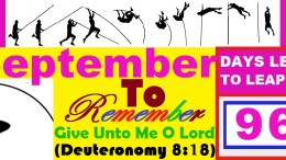LEAP YEAR 2016 Timeline Prayers - Remember Me For Good O Lord