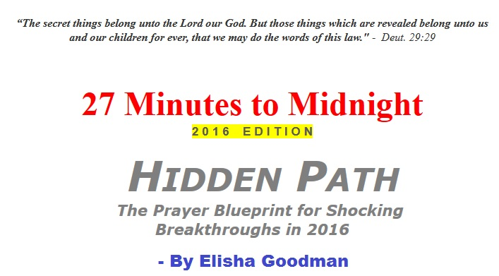 27 minutes to midnight 2016 edition by Elisha Goodman
