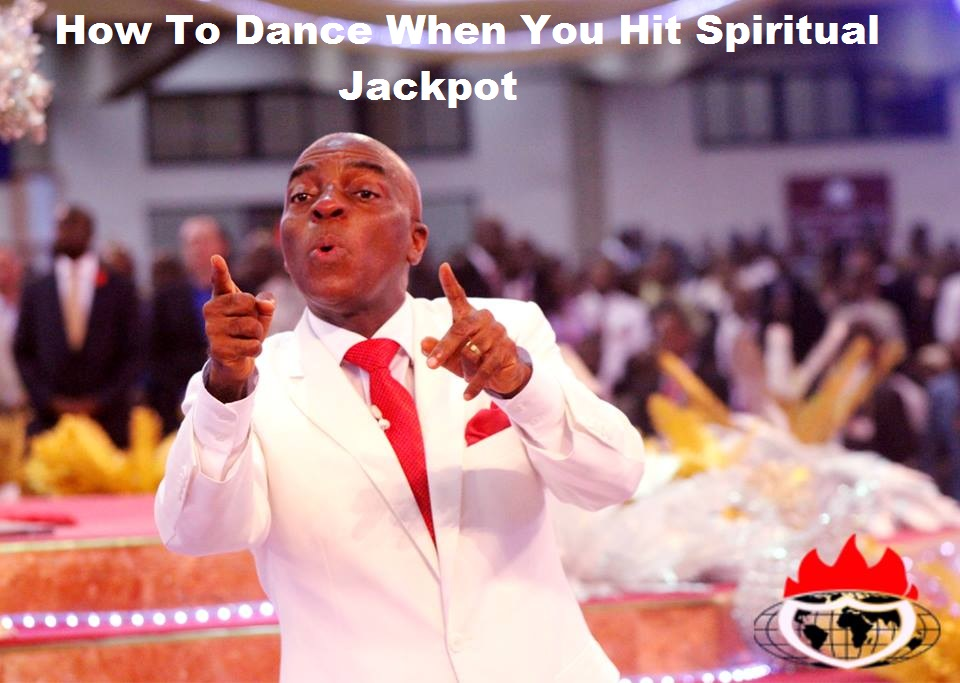 Bishop David Oyedepo dacing steps for spirual jackpot