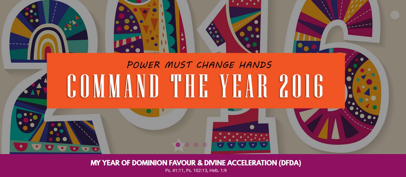 JANUARY 2016 POWER MUST CHANGE HANDS - COMMAND THE YEAR!