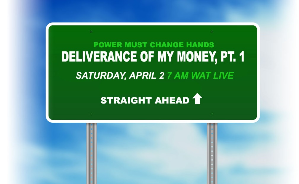POWER MUST CHANGE HANDS April 2016