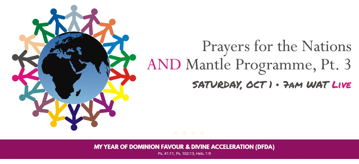 OCTOBER 2016 PMCH - PRAYERS FOR THE NATIONS