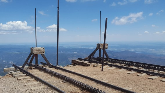 The end of the rails for those who ride the cog railroad to the top of Pikes Peak.