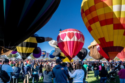 Thousands of people gather for three days of hot air balloons dancing in the sky at the annual Colorado Springs Labor Day Liftoff.