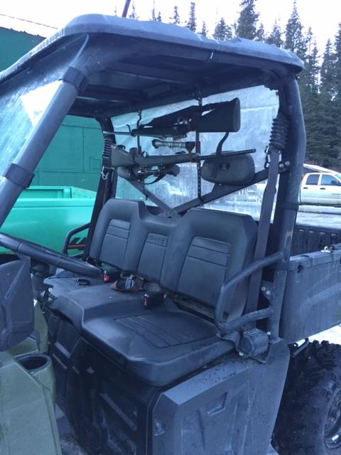 ranger gun rack idea prc polaris
