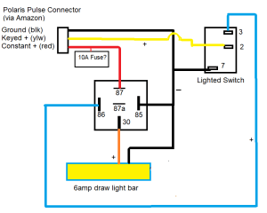 polaris pulse light bar wiring diagram questions