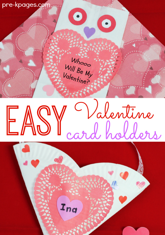 Easy Valentine Card Holders