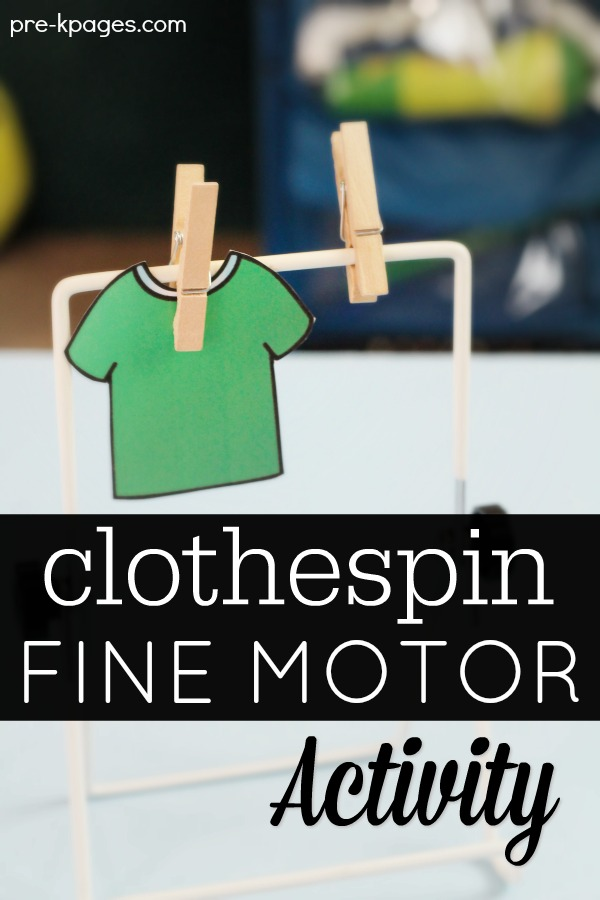 Fine Motor Clothespin Activities For Preschool Pre K Pages
