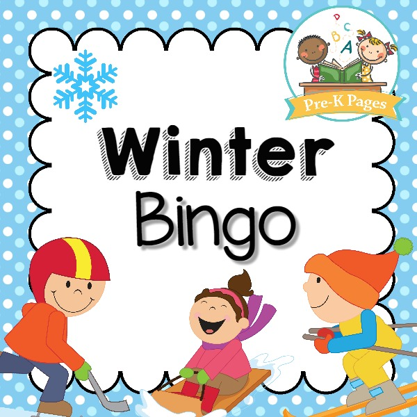 Winter Bingo Game Pre K Pages
