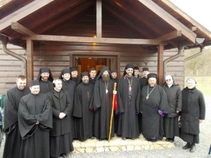 monastic community with Metr Fulop of Hungary on Feast_x950