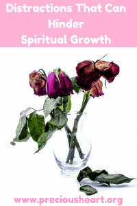 Distractions that can hinder spiritual growth