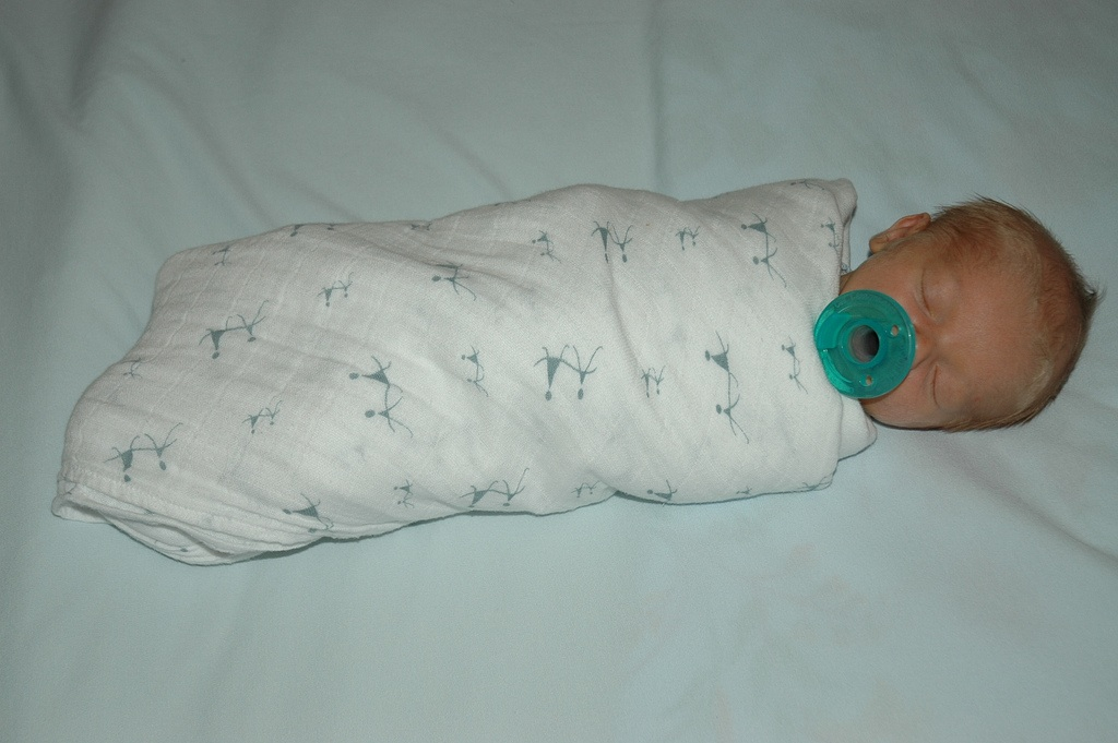 Sleeping with Pacifier   Swaddle. You are ... 764003bac