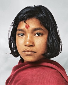 Young house working girl in Nepal.